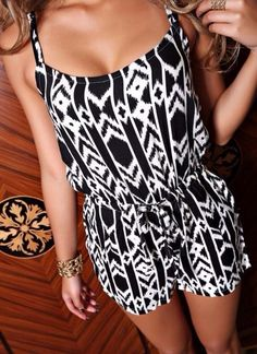 Dress: shorts romper shirt black white onesie onepiece summer outfits blouse white, divadays, ,