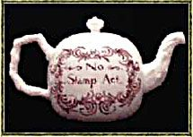 """November 1, 1765: The Stamp Act, passed by the British Parliament in March, goes into effect in the American colonies.  This was a tax on every piece of printed paper used by the colonists: legal paper, licenses, newspapers and even playing cards were taxed, and the act was passes without the approval of the colonial legislatures.  """"Taxation without representation."""""""