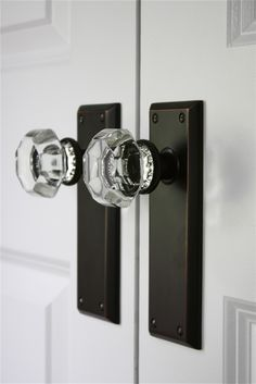 Resolution: Swap out boring door knobs for chic crystal ones