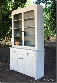 Antique Hutch Created From Two Different Pieces Of Furniture And Full Makeover - www.turnstylevogue.com (11)