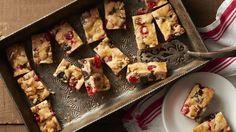 Almond Streusel-Cherry Cheesecake Bars recipe from Betty Crocker Holiday Baking, Christmas Baking, Christmas Goodies, Christmas Ideas, Christmas Cakes, Cookie Recipes, Dessert Recipes, Bar Recipes, Breakfast Recipes