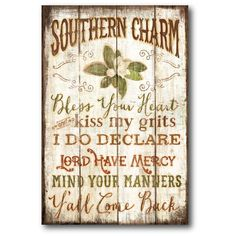Courtside Market Farmhouse Canvas Southern Charm Textual Art on Wrapped Canvas