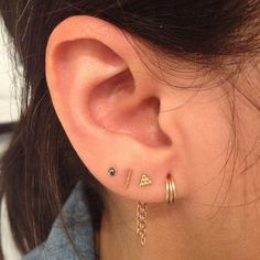 J. Colby Smith piercing Love the look of four lobe piercings with different earrings