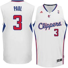adidas Chris Paul Los Angeles Clippers Revolution 30 Swingman Jersey  White
