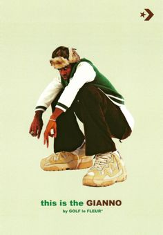 Tyler, the Creator just unveiled Gianno, the latest shoe in his Golf le Fleur collaboration with Converse. Room Posters, Poster Wall, Poster Prints, Star Silhouette, Fleur Design, New Converse, Converse Style, Mode Streetwear, Golf Fashion