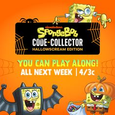 NickALive!: Nickelodeon USA to Host 'SpongeBob Code-Catcher: HallowScream Edition' Starting Monday, October 19, 2020