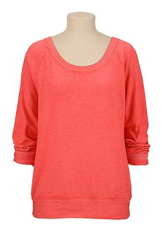 Long Sleeve Burnwash Pullover (original price, $26) available at #Maurices