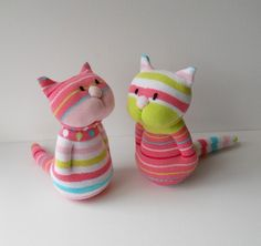 Pair of sock cats | by Treacher Creatures