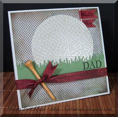 Great DIY Father's Day Card for the golf enthusiast! by lydia