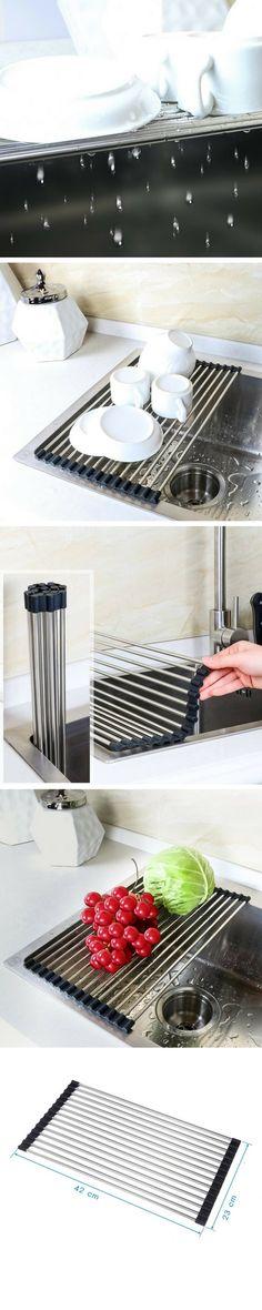 Un égouttoir pliable - super pratique pour les petites cuisines !  vu ici ➡️ http://amzn.to/2kO7KV0