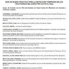 Guía de boas prácticas para a detección temperá dos trastornos de espectro autista ~ Orientación en Galicia