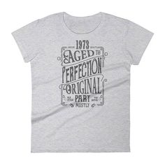 1973 Birthday Gift Vintage Born In T Shirt For Women 45th Her Made 45 Year Old