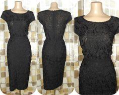 3eda078b1c8b1 On Hold thru 3 26- Vintage 50s Black Ribonelle Pencil Skirt   Blouse Dress  Set Lane Bryant 1X 2X Plus Size