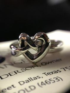 James Avery Heart Knot Ring Sterling Silver Size 7 | eBay