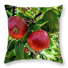 "Adams County Apples Throw Pillow 14"" x 14"""