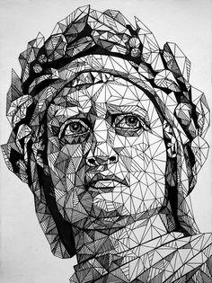 Com on dante alighieri, soyut çizimler, s Geometric Drawing, Geometric Art, Art Sketches, Art Drawings, Abstract Drawings, Contour Drawing, Ecole Art, Arte Horror, Pen Art