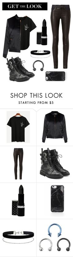 """Black is the new black"" by neacamilla ❤ liked on Polyvore featuring Glamorous, rag & bone, Giuseppe Zanotti, Hard Candy, Miss Selfridge, rockerchic and rockerstyle"