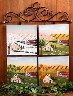 Seasonal Wallhanging Painting Instruction Packet by Debby Forshey Choma