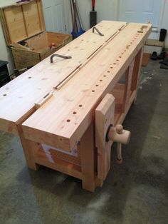 Workbench Designs, Workbench Plans, Woodworking Workbench, Woodworking Projects, Workbench Top, Build Your Own Garage, Tool Bench, Bench Vise, Wooden Posts