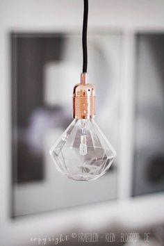 Diamond bulb from http://fraeulein-klein.blogspot.de/search/label/Wohnzimmer på We Heart It - http://weheartit.com/entry/147660448