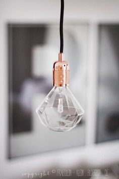 Diamond bulb from http://fraeulein-klein.blogspot.de/search/label/Wohnzimmer på We Heart It - http://weheartit.com/entry/147660448