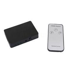 1Set 2 Port HDMI Splitter 1x2 HD 3D 1080P Repeater Amplifier 1 In 2 Out EU UE