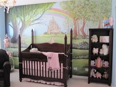 Enchanted Nursery Rhyme Nursery: I wanted to create a magical room for my little princess to come home to. I wanted it to feel like an enchanted forest but also have a fairytale theme.