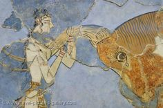 Pictures of Greece - Crete - Heraklion - Knossos - Minoan frescoes, Archeological Museum