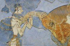 Pictures of Greece - Crete - Heraklion - Knossos - Minoan frescoes, Archeological Museum