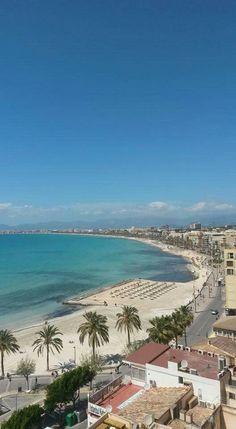 Beach El Arenal Mallorca 04.24.16 Mallorca Beaches, Ibiza, Balearic Islands, Majorca, Travel Plan, Canary Islands, Beautiful Beaches, Strand, Palmas