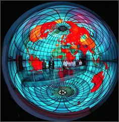 The globe, known formally as the Mapparium, is part of the Mary Baker Eddy Library for the Betterment of Humanity, located in the Christian Science Publishing Society building