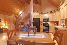 Wood home with loft on one end