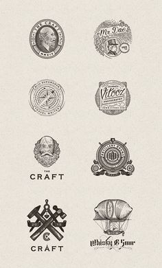 Diverse vintage inspired logos and graphics from 2013 and 2014 by Joe White. Below you can see diverse logos, letterings, and other branding elements Vintage Typography, Typography Logo, Graphic Design Typography, Lettering, Vintage Graphic, Web Design, Design Logos, Design Layouts, Portfolio Logo