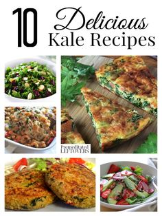 10 Delicious Kale Recipes & How to Freeze Kale - Enjoy this frugal and vitamin rich vegetable in these easy kale recipes. Freeze extra kale with these tips.