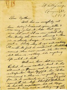 Letter from WW1