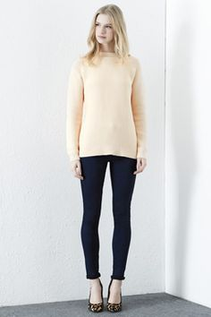 Buy Cream Warehouse Basket Weave Cotton Jumper, 12 from our Women's Knitwear range at John Lewis & Partners. Fashion Now, Latest Fashion Clothes, Womens Fashion, New Outfits, Dress Outfits, Cotton Jumper, Basket Weaving, Knitwear, Normcore