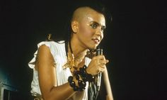 Annabella Lwin of Bow Wow Wow on stage in 1982. Photograph: Nils Jorgensen/Rex Features