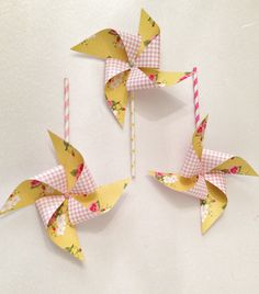 Diy paper pinwheels....good use for dbl sided scrapbook paper