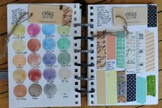 """makes me think of making a little """"inventory"""" book or pages about favorite supplies in an art journal"""