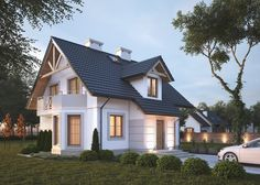 LK&596 Projekt tradycyjnego domu jednorodzinnego, parterowego z poddaszem użytkowym i piwnicą, idealny dla rodziny cztero - lub pięcioosobowej. Na 108 m2 zaplanowana została bardzo funkcjonalna przestrzeń. Więcej na: http://lk-projekt.pl/lkand596-produkt-627.html