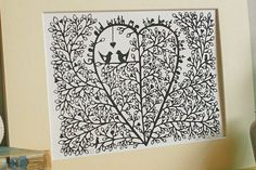 Wedding paper cut customised bespoke papercut Spring by CraftyLou2