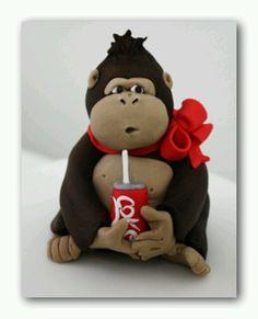 Monkey w Coke...so cute!