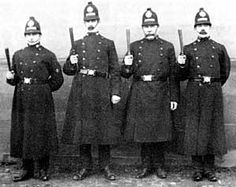 Four policeman from Nottingham, England 1890s.