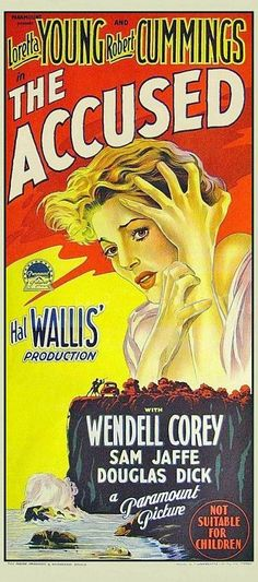 7/10/14  3:14a  Paramount Pictures ''The Accused''  Loretta Young Robert Cummings  Poster 1949  impawards.com