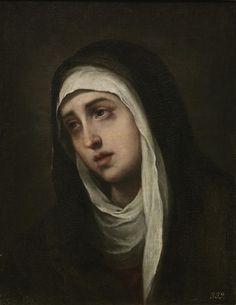 La Dolorosa / The Holy Virgin of Sorrows // 1660 - 1670 // Bartolomé Esteban Murillo // Catholic Art, Catholic Saints, Religious Art, Blessed Mother Mary, Blessed Virgin Mary, Esteban Murillo, St Clare's, Images Of Mary, Mama Mary