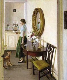 The Letter, 1937 / Harold Harvey British painter (1874--1941).