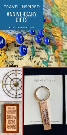 Looking for anniversary gifts for the ones you love? Do they like to travel? We have compiled a list of travel inspired anniversary gifts. These suggestions are unique and even budget friendly. These gift ideas are sure to impress. #anniversary #travel #gifts Second Anniversary Gift, 7th Wedding Anniversary, Travel Themes, Travel Ideas, Travel Decorations, Traditional Anniversary Gifts, Custom Wooden Signs, Travel Gifts, Plan Your Trip