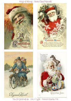 Wings of Whimsy: Santa Claus Postcards