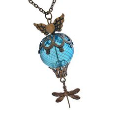 Whimsical Flight  Hot Air Balloon Necklace Jewelry Jewellery