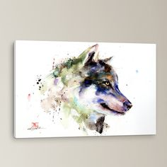 Wolf Painting Print on Wrapped Canvas | Wayfair.ca